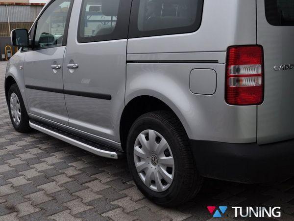 """Боковые подножки VW Caddy III (04-14) """"DOLUNAY"""""""