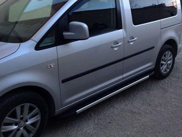 """Боковые подножки VW Caddy III (04-14) """"DURU"""""""