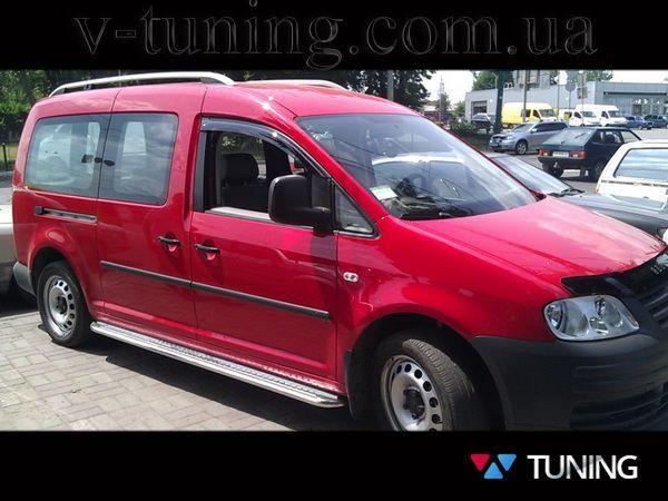 """Боковые площадки стальные VW Caddy III (04-14) """"PREMIUM"""""""