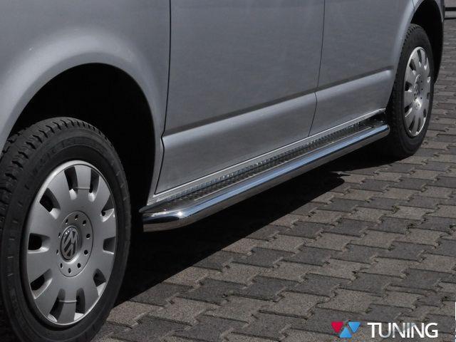 """Пороги боковые VW T5/T5+ стальная площадка """"PREMIUM"""""""