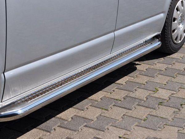 Пороги боковые VW Tiguan (2007-2015) - PREMIUM стальные 1