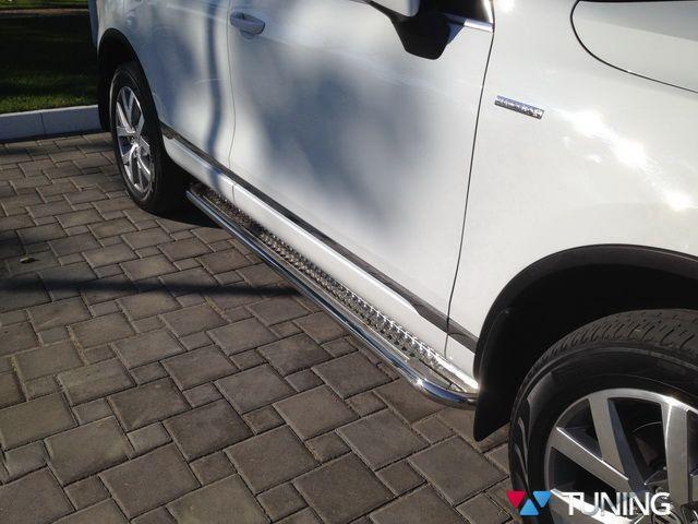 Боковые площадки стальные VW Touareg II (2011-) PREMIUM