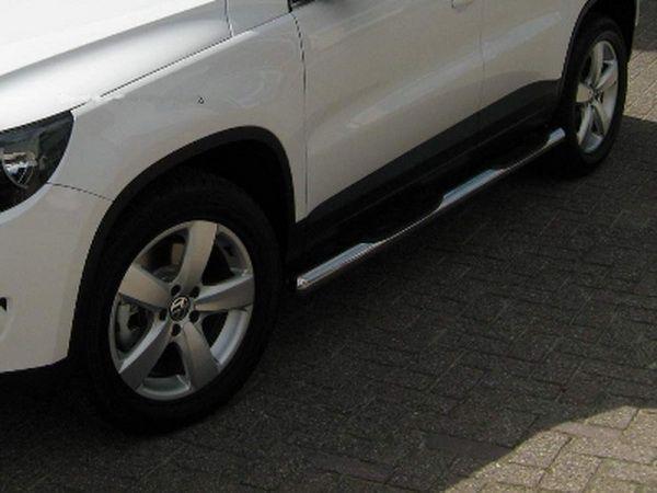 Пороги боковые VW Tiguan I (2007-2015) - трубы 1