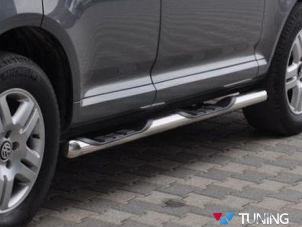 Пороги боковые VW Touareg I (2002-2010) трубы