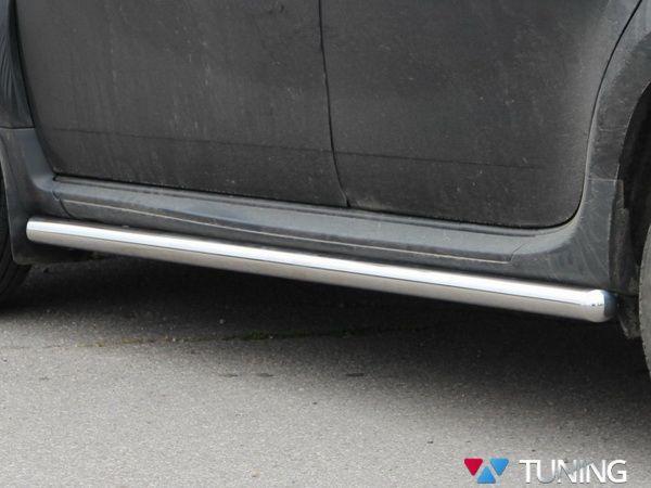 Пороги боковые VW Touareg II (2011-) - трубы 2