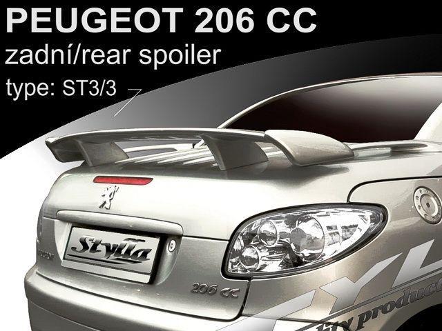 Спойлер багажника PEUGEOT 206 CC ST3/3