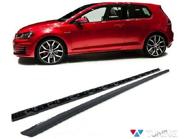 "Диффузоры боковых порогов VW Golf 7 (2013-) HB ""GTI"""
