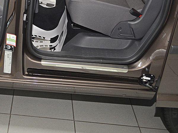 Хром накладки на пороги VW Caddy III (2004-) NataNiko