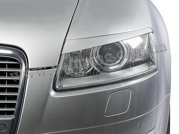 Реснички на фары AUDI A6 C6 (2004-) ABS пластик
