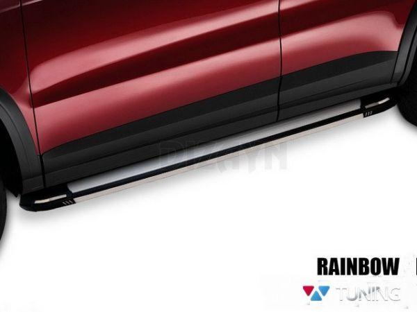 "Пороги боковые CHEVROLET Trax (2012-) ""RAINBOW"""