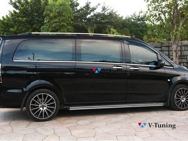 Рейлинги MERCEDES Vito / V-Class W447 (2014-) - хром 5