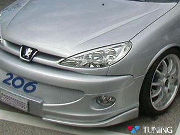 Реснички на фары PEUGEOT 206 (1998-) узкие