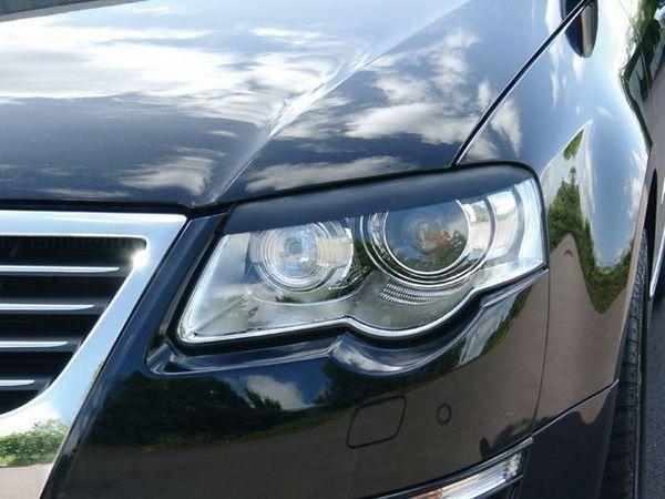 Реснички на фары VW Passat B6 (05-10) прямые