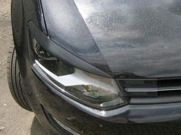 Реснички на фары VW Polo Mk5 6R (2009-) ABS