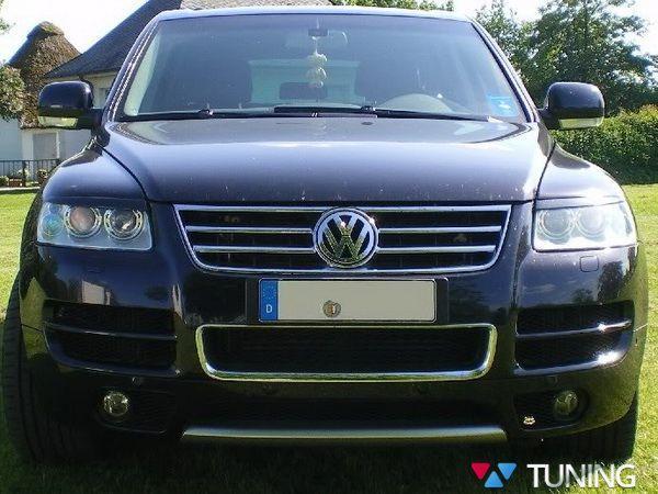 Реснички на фары VW Touareg I (2002-2005) ABS