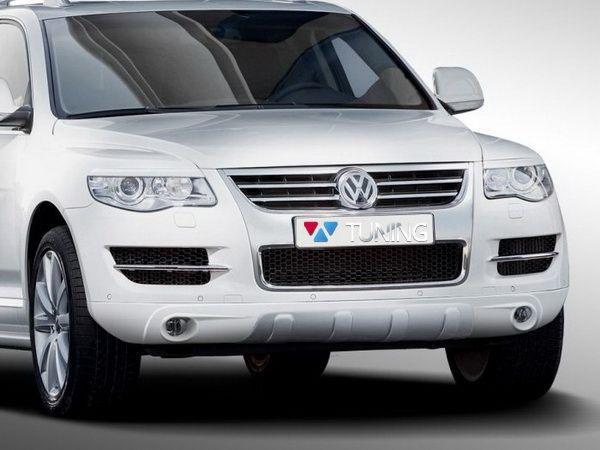 Реснички на фары VW Touareg I (2006-2010) рестайлинг ABS