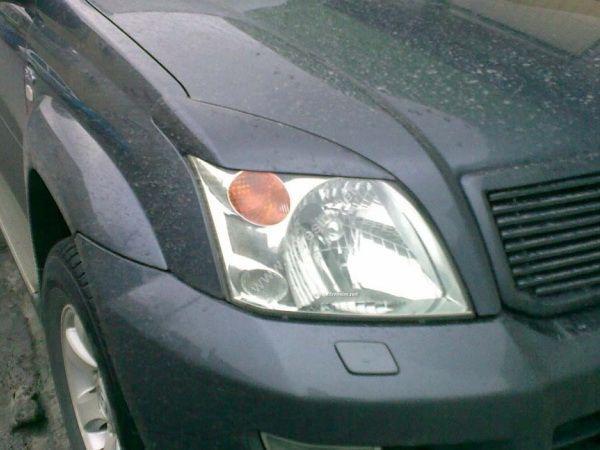 Реснички на фары TOYOTA LC 120 Prado III - ABS пластик 3