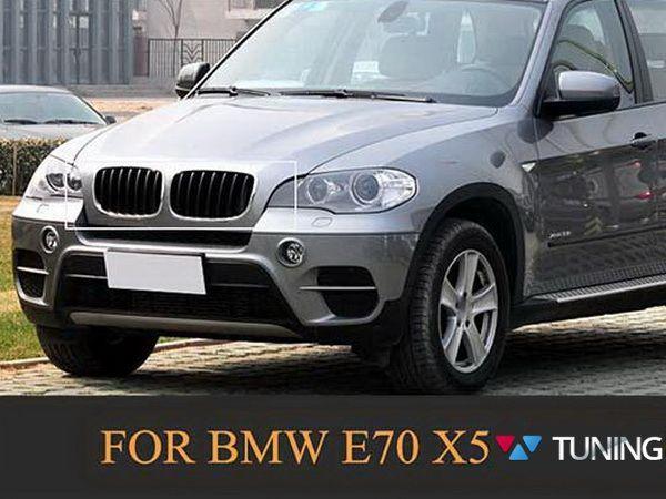 Решётка радиатора BMW X5 E70 / X6 E71 - М стиль чёрная матовая - на автомобиле