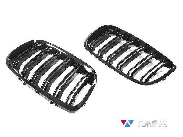 Ноздри BMW X5 E70 (06-13) - М стиль чёрные глянцевые