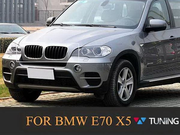 Ноздри BMW X5 E70 / X6 E71 - М стиль чёрные глянцевые - на автомобиле