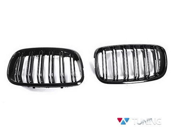 Ноздри BMW X5 E70 / X6 E71 - М стиль чёрные глянцевые - фото #2