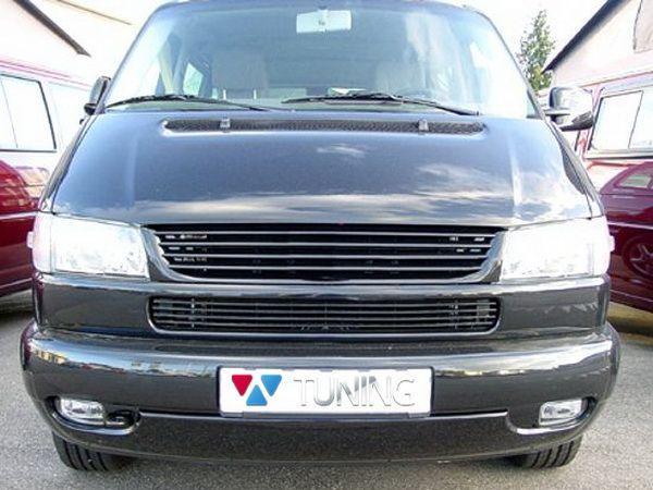Решётка радиатора VW T4 Caravelle/Multivan (96-03) чёрная