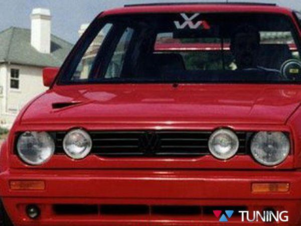 Бедлук нижний VW Golf II (83-92) с вырезами 4 фары