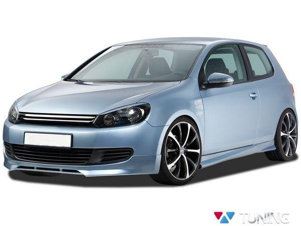 Реснички на фары VW Golf VI (2008-2012) ABS