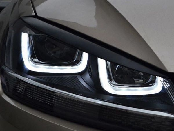 Реснички на фары VW Golf 7 VII (2013-)  1