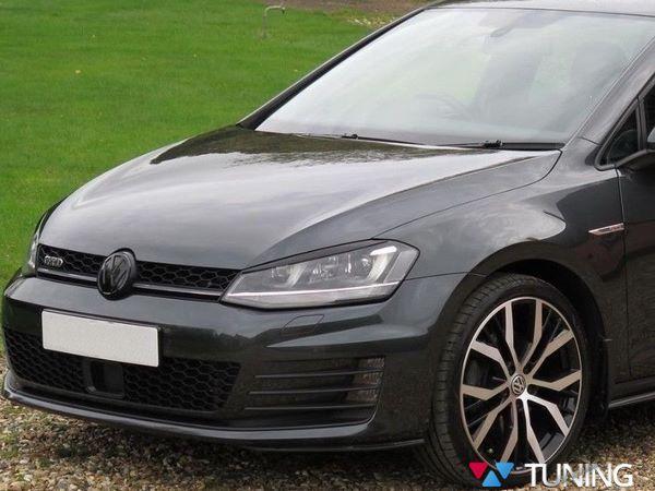 Реснички на фары VW Golf 7 VII (2013-)  3