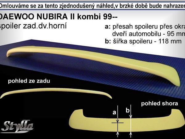 Спойлер  DAEWOO Nubira II (99-) Combi 2 ножки