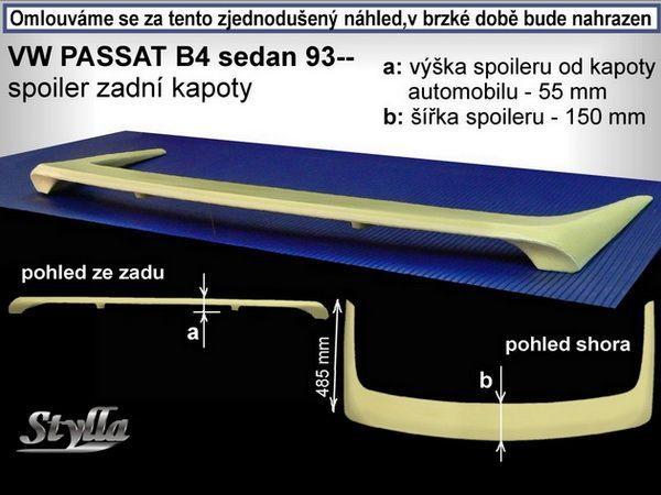 Спойлер багажника VW Passat B4 (93-97) Sedan