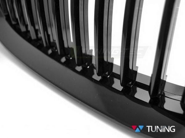 Решётка радиатора BMW E92/E93 (2010+) рестайлинг - чёрная глянцеая 2