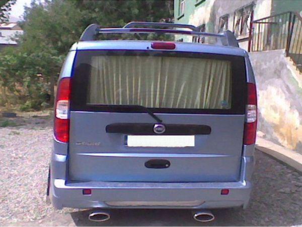 """Рейлинги с спойлером FIAT Doblo I (00-09) """"HRV"""""""