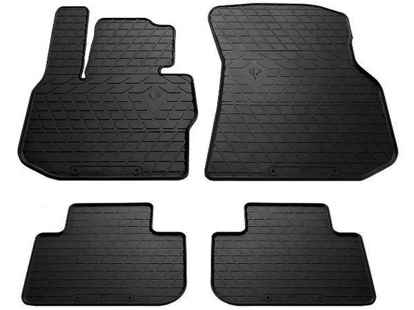 Чёрные коврики резиновые салона BMW X3 G01 - PREMIUM серия