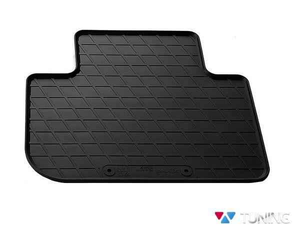 Чёрный коврик резиновый задний BMW X3 G01 - PREMIUM