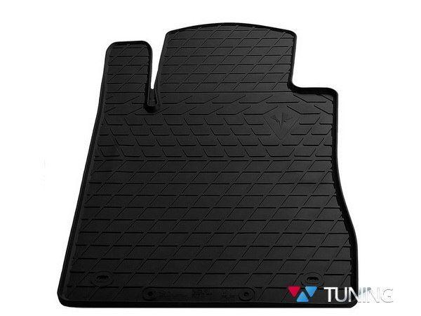 Коврик водительский MERCEDES W211 - резиновый чёрный PREMIUM