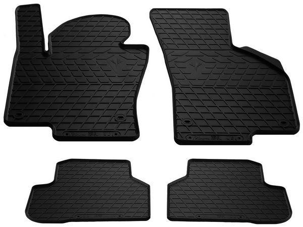 Чёрные коврики резиновые салона VW Passat CC - Premium