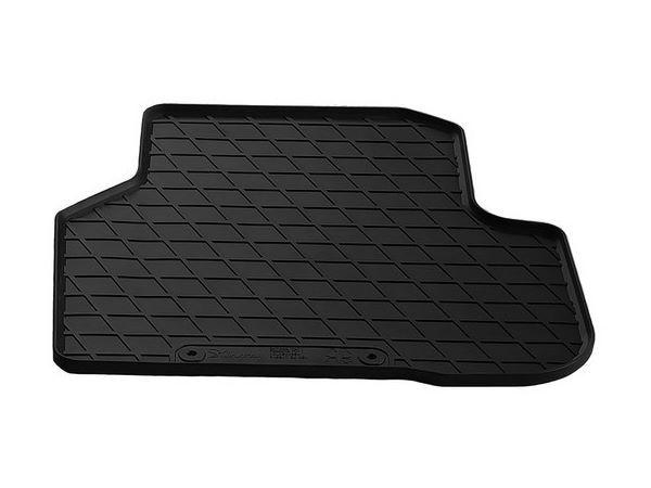 Чёрный коврик резиновый задний VW Passat CC - Premium