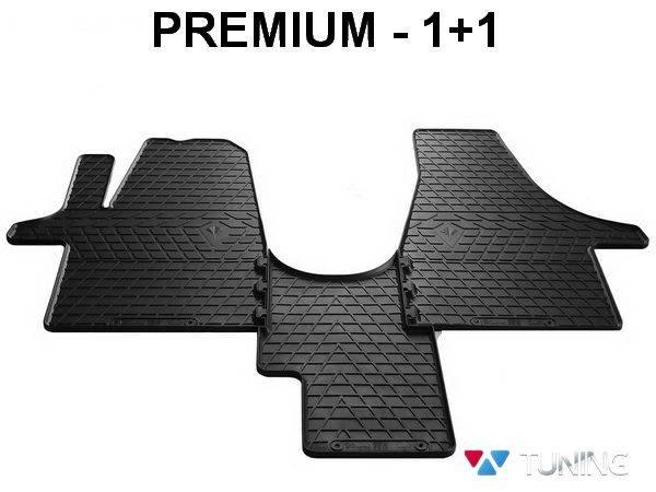 Коврики резиновые передние VOLKSWAGEN T5 - Stingray - PREMIUM 1+1