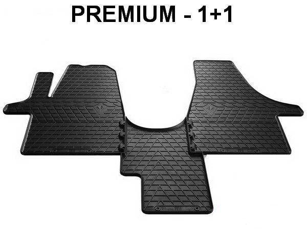 Резиновые коврики VOLKSWAGEN T6 (2015-) - передние PREMIUM 1+1