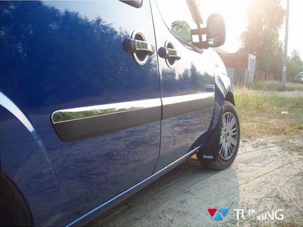 Хром молдинг дверной (узкий) FIAT Doblo I (06-09)