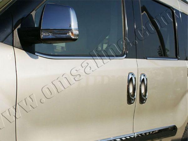 Хром нижняя окантовка стёкол FIAT Doblo II (2010-) OMSA