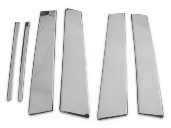 Хром молдинги дверных стоек MERCEDES E W210 (1995-2002) 2