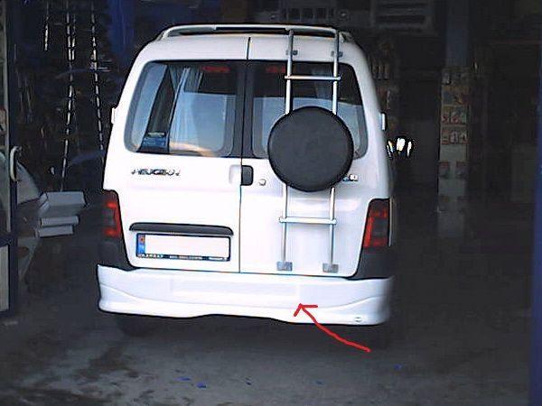 Накладка заднего бампера (юбка) CITROEN Berlingo (1996-)