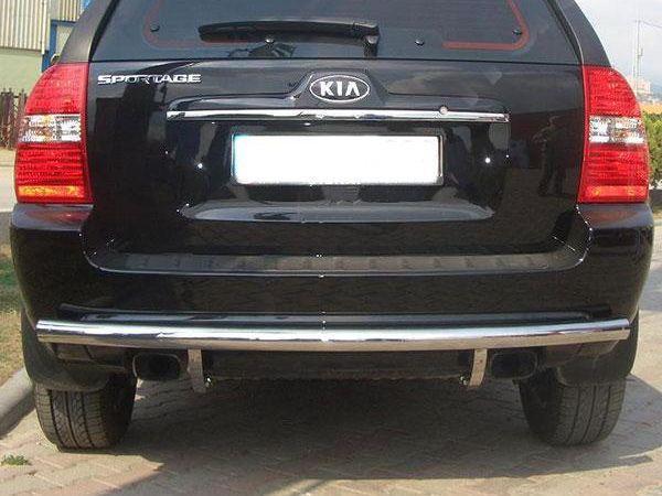 Защита заднего бампера (труба) KIA Sportage II (2004-2009)