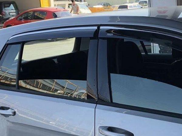 Ветровики с хром молдингом VW Polo V (2009+) Hatchback 4