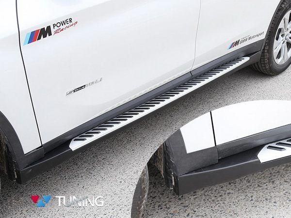 Пороги боковые BMW X1 F48 (2015-) - оригинальные