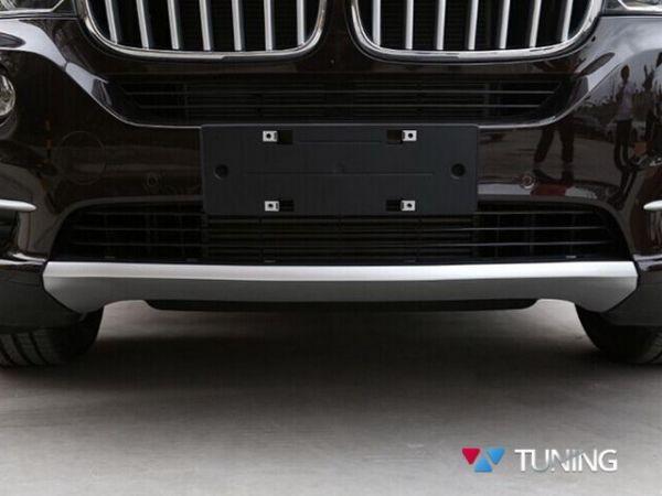 Накладки под бампера BMW X5 F15 серебряные - фото #2
