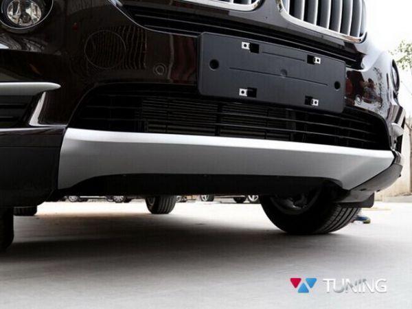 Накладки под бампера BMW X5 F15 серебряные - фото #3